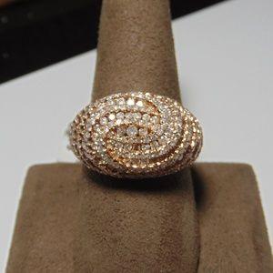 Jewelry - 14K Rose Gold Diamond Fashion Ring